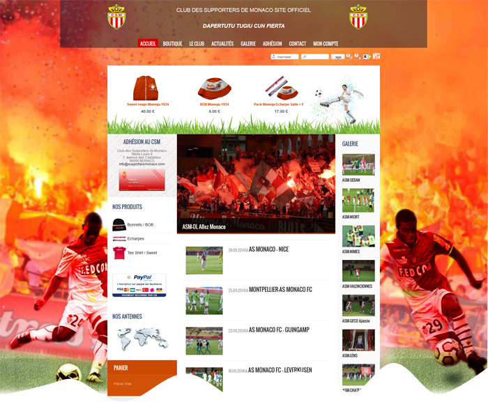 Site Internet supportersmonaco.com